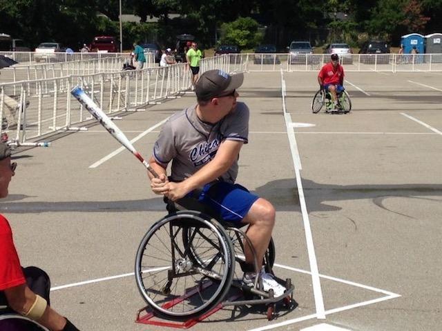 softball player in wheelchair
